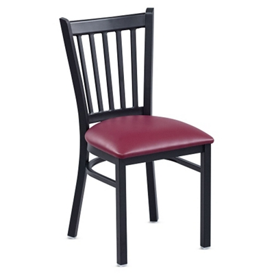 Vertical Slat Back Cafe Chair