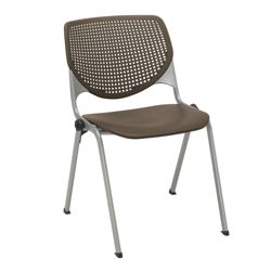 Perforated Back Poly Stack Chair with 400 lb. Capacity