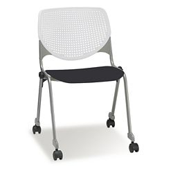 Figo Stack Chair with Polypropylene Seat and Casters