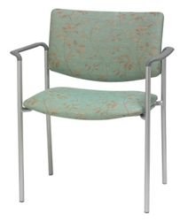 Upholstered Back Guest Chair with Arms