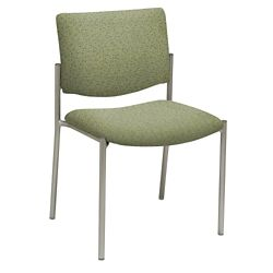 Armless Upholstered Back Guest Chair