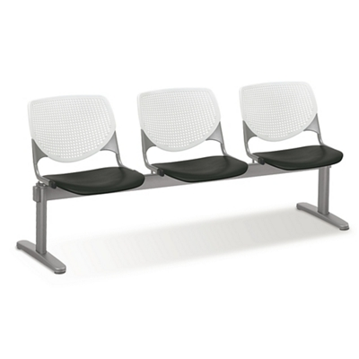 Figo Beam Seating with Three Polypropylene Seats