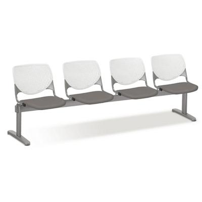 Figo Beam Seating with Four Fabric or Polyurethane Seats