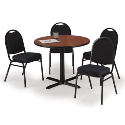 """36"""" Breakroom Table and Fabric Chair Set"""