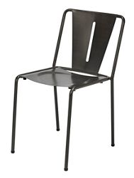 Armless Contoured Metal Chair
