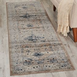 "kathy ireland by Nourison Botanical Runner 2'2""W x 7'7""D"
