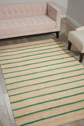 kathy ireland by Nourison Striped Jute Area Rug 8'W x 10'D