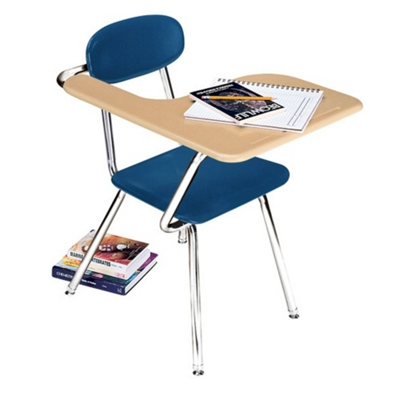 Student Chair Desk With Right Tablet Arm   13803 And More Lifetime Guarantee