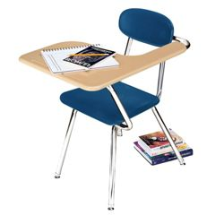 Student Chair Desk with Left Tablet Arm