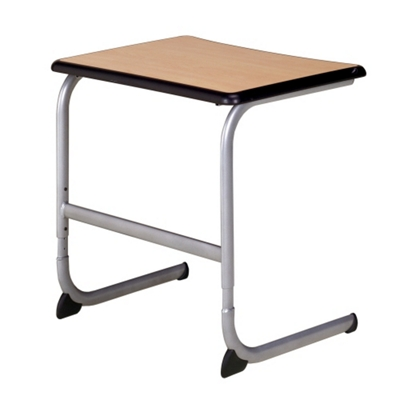 "Adjustable Cantilever Base Student Desk with Solid Laminate Top - 26""W"