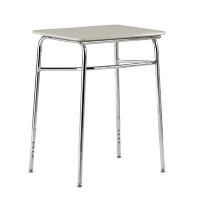 "Plastic Top Adjustable Height Student Desk - 24""W x 18""D"