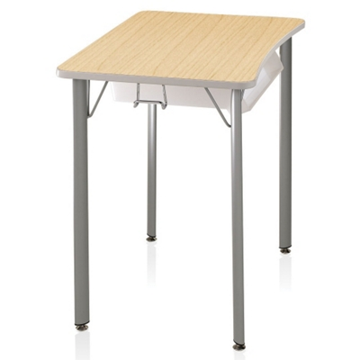 "Four-Leg Hard Plastic Top Desk - 27""H"