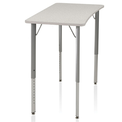 Adjustable Height Four-Leg Hard Plastic Top Desk