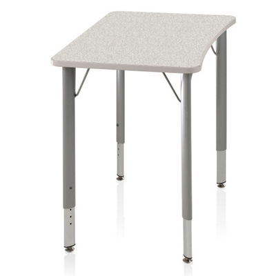 ADA Adjustable Height Four-Leg Hard Plastic Top Desk