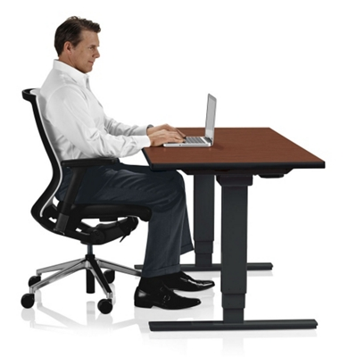 Adjustable Height Sit Stand Desk   24W X 48D   41651 And More Lifetime  Guarantee