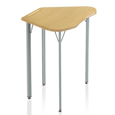 "Plastic Top Trapezoid Student Desk - 29""H"