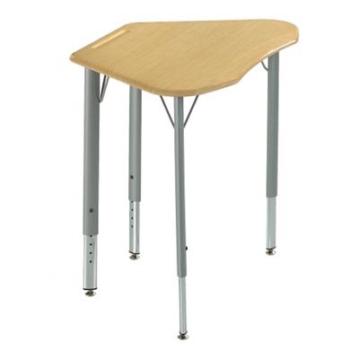 Adjustable Height Plastic Top Trapezoid Student Desk