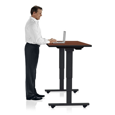 "Height Adjustable Mobile Table 72""W x 24""D"