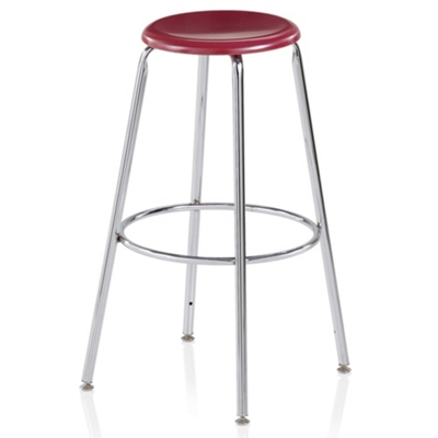 "Student Stool with Hard Plastic Seat - 30""H"