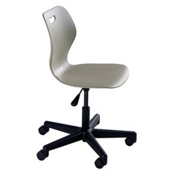 """Adjustable Height Student Task Chair with Casters - 16.5""""-21.5""""H Seat"""