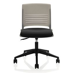 Armless Task Chair with Fabric Seat