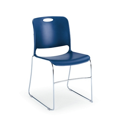 """Poly Stack Chair with Polycarbonate Glides 19.25""""W x 31.5""""H"""