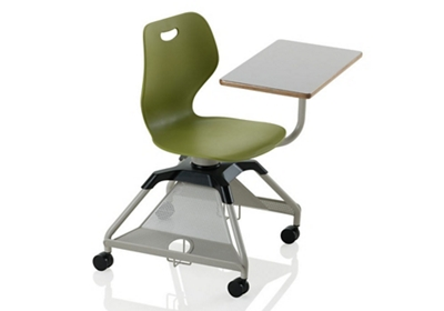 Learn2 Mobile Chair Desk with Carpet Casters and Cup Holder