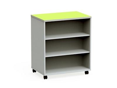 "Mobile Dual-Sided Six Shelf Bookcase - 36""W x 42""H"
