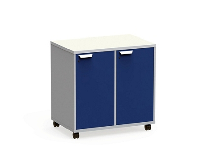 """Mobile Dual-Sided Cubby with Right Locking Doors - 36""""W x 36""""H"""