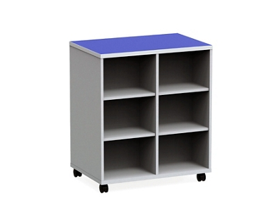 """Mobile Dual-Sided Cubby - 36""""W x 42""""H"""