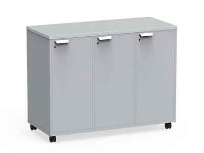 """Mobile Dual-Sided Cubby with Left Locking Doors - 54""""W x 42""""H"""