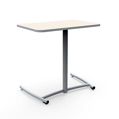 """Cantilever Desk with Comfort Curve and Back Casters - 30""""W x 29""""H"""