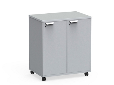 "Mobile Dual-Sided Locking Four Locker Unit - 36""W x 42""H"