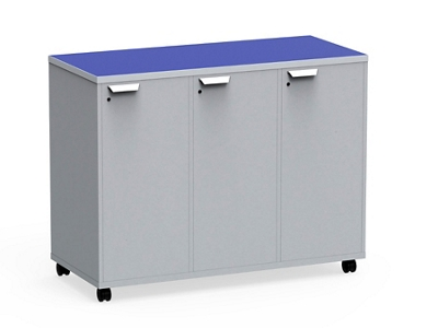 "Mobile Dual-Sided Locking Four Locker Unit - 54""W x 42""H"