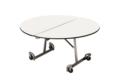 """Round Mobile Folding Table - 72""""DIA"""