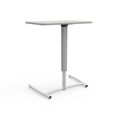 "Adjustable Height and Mobile Single Post Cantilever Desk - 30""Wx20""D"