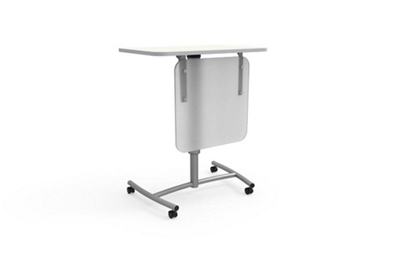 """Adjustable Height Mobile Lectern with Modesty Panel - 30""""Wx20""""D"""