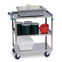 "Lakeside 27""x18"" Stainless Steel Utility Cart"