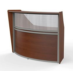 "Magellan Single Reception Station with Plexiglass Panel - 69.5""W x 33.5"" D"