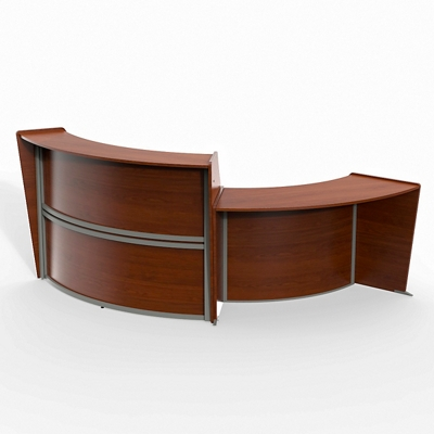 "Magellan Double Reception Station - 124""W x 49""D"
