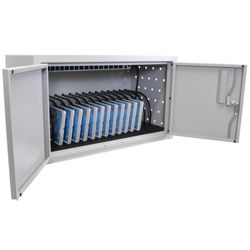 "Locking 16 Tablet Charging Cabinet - 13""H"