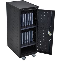 "Locking 12 Tablet Mobile Charging Cart - 39.625""H"