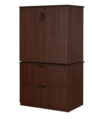 Storage and Lateral File Cabinet Combo