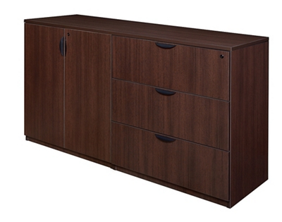 Standing Height Three Drawer Lateral File and Storage Cabinet Unit