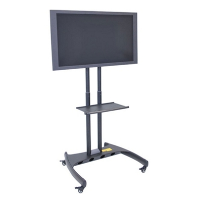 Adjustable Height Mobile Rotating Flat Panel TV Stand with Shelf