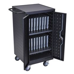 "Mobile Charging 18 Slot Tablet Storage Cart- 39.75""H"