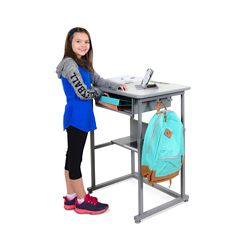 """Sit or Stand Student Desk - 27.5""""W"""
