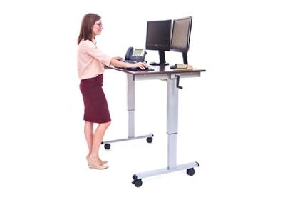 """Adjustable Desk Manual Mobile Desk - 48""""W"""