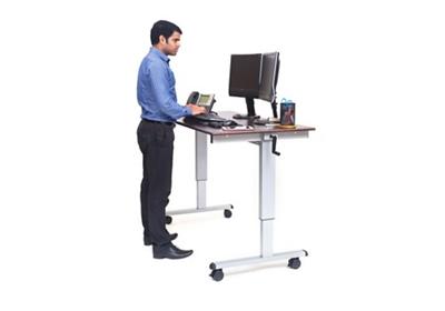 """Adjustable Desk Manual Mobile Desk - 60""""W"""