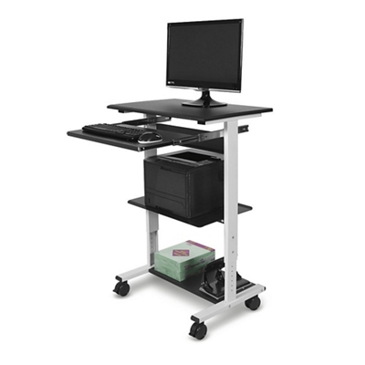 Three-shelf Height Adjustable Workstation